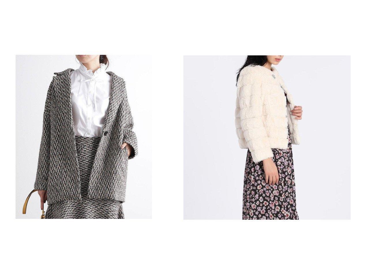 【VIS/ビス】の【セットアップ対応】ツイードヘリンボーンゆるジャケット&【ef-de/エフデ】の《Maglie par ef-de》エコファージャケット アウターのおすすめ!人気、レディースファッションの通販 おすすめで人気のファッション通販商品 インテリア・家具・キッズファッション・メンズファッション・レディースファッション・服の通販 founy(ファニー) https://founy.com/ ファッション Fashion レディース WOMEN アウター Coat Outerwear ジャケット Jackets テーラードジャケット Tailored Jackets コート Coats クラシカル ジャケット セットアップ ツイード 冬 Winter バランス ブローチ ラグジュアリー  ID:crp329100000003077