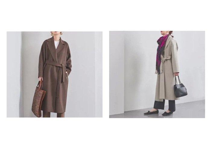 【UNITED ARROWS/ユナイテッドアローズ】のAG リバー テーラードコート† アウターのおすすめ!人気、レディースファッションの通販 おすすめファッション通販アイテム レディースファッション・服の通販 founy(ファニー) ファッション Fashion レディース WOMEN アウター Coat Outerwear コート Coats ラップ |ID:crp329100000003092