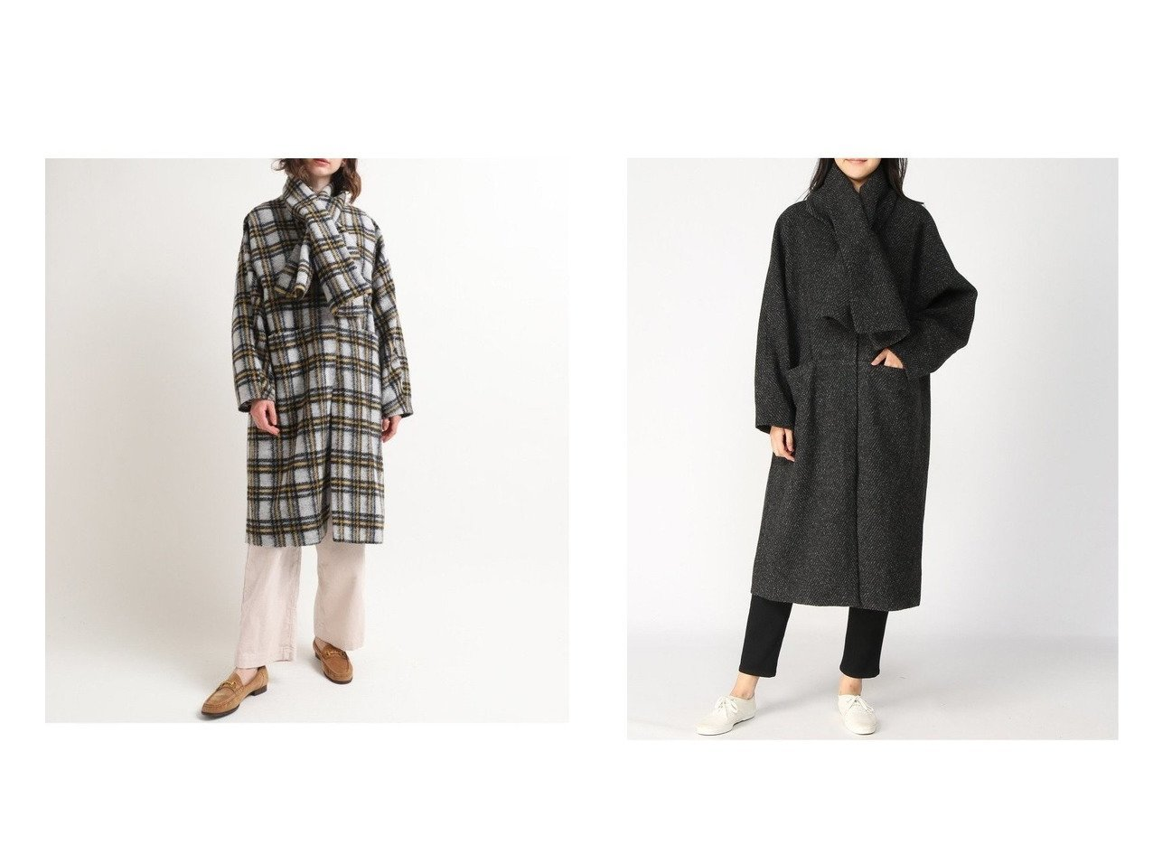 【RNA-N/アールエヌエーエヌ】のマフラー付きスライバーコート アウターのおすすめ!人気、レディースファッションの通販 おすすめで人気のファッション通販商品 インテリア・家具・キッズファッション・メンズファッション・レディースファッション・服の通販 founy(ファニー) https://founy.com/ ファッション Fashion レディース WOMEN アウター Coat Outerwear コート Coats ジャケット Jackets マフラー Mufflers イタリア ジャケット チェック ヘリンボン ポケット マフラー ロング 無地 |ID:crp329100000003113