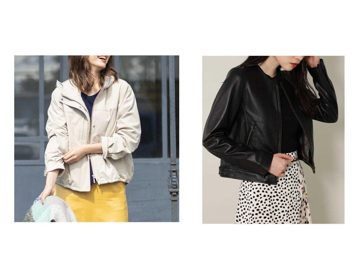 【ROSE BUD/ローズバッド】のレザーノーカラージャケット&【KUMIKYOKU/組曲】の【洗える】ブルゾンコンビ インナーダウン付き ブルゾン アウターのおすすめ!人気、レディースファッションの通販 おすすめで人気のファッション通販商品 インテリア・家具・キッズファッション・メンズファッション・レディースファッション・服の通販 founy(ファニー) https://founy.com/ ファッション Fashion レディース WOMEN アウター Coat Outerwear コート Coats ジャケット Jackets ブルゾン Blouson Jackets ノーカラージャケット No Collar Leather Jackets インナー ギャザー コンビ ジャケット スピンドル タフタ ダウン ツイル バランス フォルム ブルゾン 秋冬 A/W Autumn/ Winter シンプル フェミニン 定番 |ID:crp329100000003118