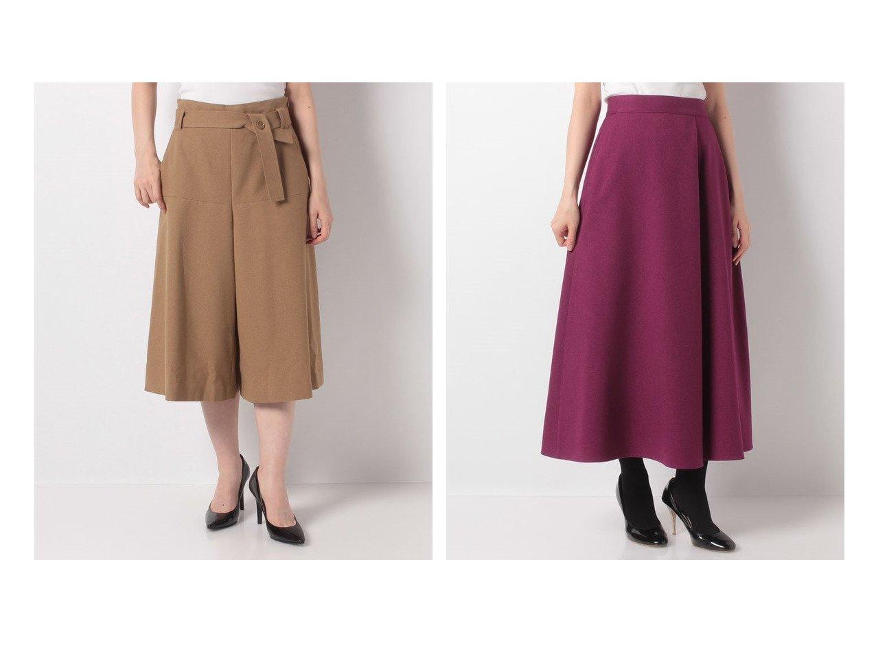 【allureville/アルアバイル】のウォームジョゼットAラインキュロット&ウールライクポリフレアスカート スカートのおすすめ!人気、レディースファッションの通販 おすすめで人気のファッション通販商品 インテリア・家具・キッズファッション・メンズファッション・レディースファッション・服の通販 founy(ファニー) https://founy.com/ ファッション Fashion レディース WOMEN スカート Skirt Aライン/フレアスカート Flared A-Line Skirts キュロット ジョーゼット トレンド ギャザー フレア フロント レース  ID:crp329100000003162