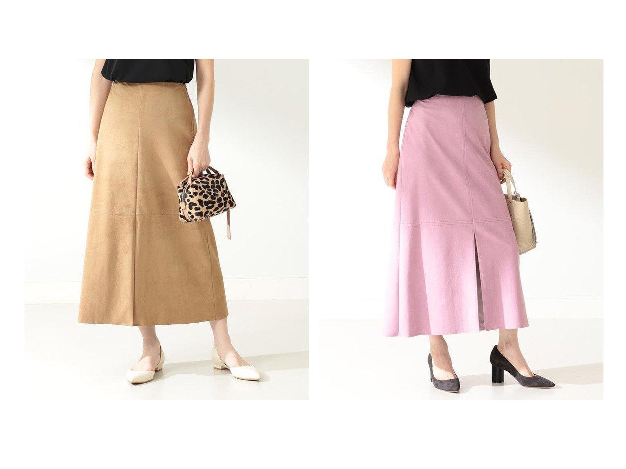 【Demi-Luxe BEAMS/デミルクス ビームス】のDemi- フェイクスエード ステッチ スカート スカートのおすすめ!人気、レディースファッションの通販 おすすめで人気のファッション通販商品 インテリア・家具・キッズファッション・メンズファッション・レディースファッション・服の通販 founy(ファニー) https://founy.com/ 雑誌掲載アイテム Magazine items ファッション雑誌 Fashion magazines バイラ BAILA ファッション Fashion レディース WOMEN スカート Skirt Aライン/フレアスカート Flared A-Line Skirts スエード スリット フェイクスエード フロント リアル ロング ワーク 人気 雑誌  ID:crp329100000003163