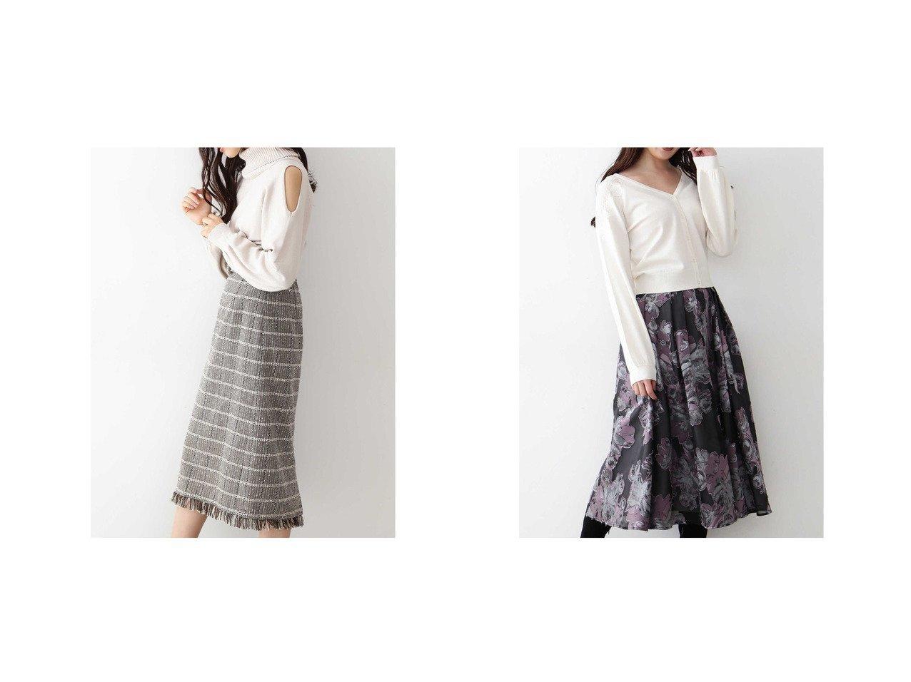 【JILL by JILLSTUART/ジルバイジルスチュアート】のスリットニット×フリンジチェックスカートセット&シアージャガードスカート ミントグレー スカートのおすすめ!人気、レディースファッションの通販 おすすめで人気のファッション通販商品 インテリア・家具・キッズファッション・メンズファッション・レディースファッション・服の通販 founy(ファニー) https://founy.com/ ファッション Fashion レディース WOMEN スカート Skirt ショルダー スリット タートル ボトム 冬 Winter クラシカル フェミニン フレア  ID:crp329100000003171