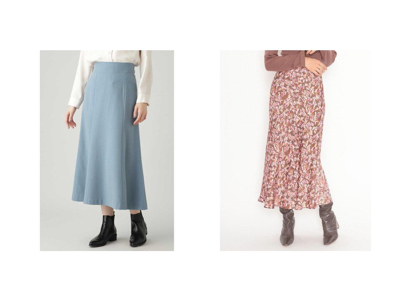 【SNIDEL/スナイデル】のバリエプリントナロースカート&【N.Natural Beauty basic/エヌ ナチュラルビューティーベーシック】のサキソニーマーメイドスカート スカートのおすすめ!人気、レディースファッションの通販 おすすめで人気のファッション通販商品 インテリア・家具・キッズファッション・メンズファッション・レディースファッション・服の通販 founy(ファニー) https://founy.com/ ファッション Fashion レディース WOMEN スカート Skirt フレア マーメイド 冬 Winter 春 サテン スマート トレンド ドット バイアス プリント ミモレ モダン ロング  ID:crp329100000003173