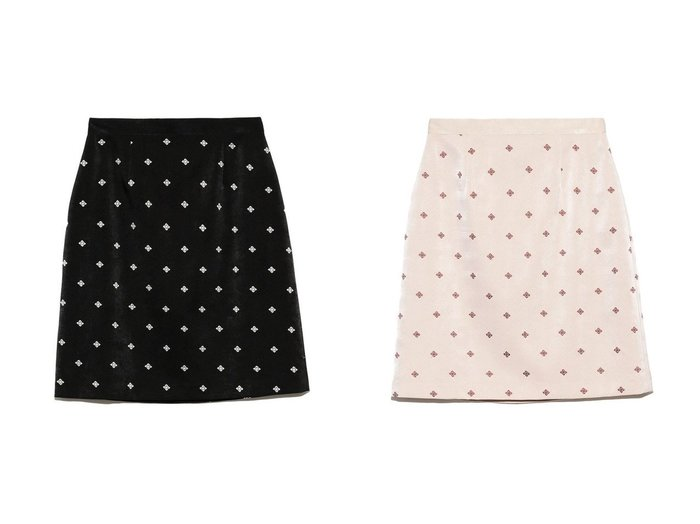 【Lily Brown/リリーブラウン】の小紋刺繍スカート スカートのおすすめ!人気、レディースファッションの通販 おすすめファッション通販アイテム レディースファッション・服の通販 founy(ファニー) ファッション Fashion レディース WOMEN スカート Skirt ミニスカート Mini Skirts クラシカル サテン シンプル セットアップ パープル フォルム ブルゾン ミニスカート |ID:crp329100000003181