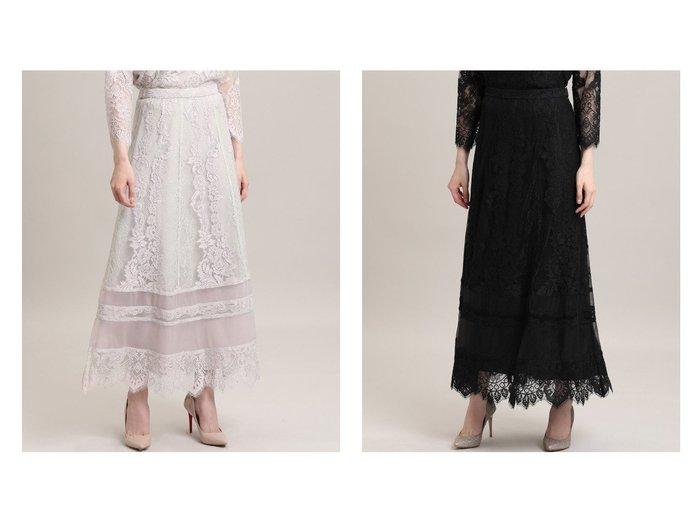 【ef-de/エフデ】の《M Maglie le cassetto》レースロングスカート スカートのおすすめ!人気、レディースファッションの通販 おすすめファッション通販アイテム レディースファッション・服の通販 founy(ファニー) ファッション Fashion レディース WOMEN スカート Skirt ロングスカート Long Skirt チュール バランス モチーフ レース ロング |ID:crp329100000003189