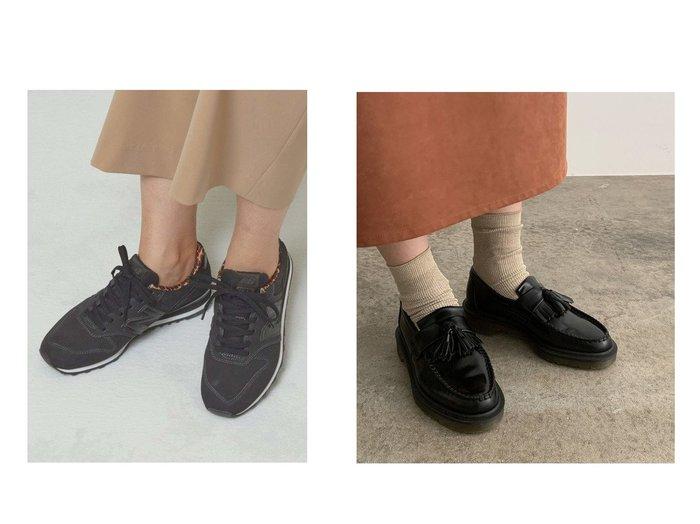 【THE STATION STORE/ザ ステーション ストア ユナイテッドアローズ】のWL996 レオパード パイピング スニーカー&【ROPE' mademoiselle/ロペ マドモアゼル】の【Dr.Martens】エイドリアンタッセルローファー シューズ・靴のおすすめ!人気、レディースファッションの通販  おすすめファッション通販アイテム レディースファッション・服の通販 founy(ファニー) ファッション Fashion レディース WOMEN シューズ スタイリッシュ スニーカー スリッポン ソックス タイツ パイピング レオパード イエロー クッション タッセル 定番 ワーク |ID:crp329100000003196