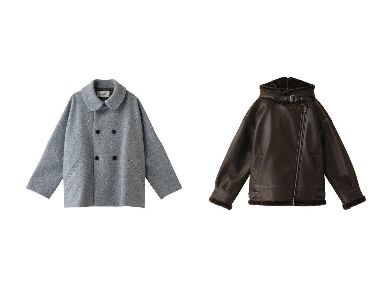 【MAISON SPECIAL/メゾンスペシャル】のヴィーガンレザーファーライダースジャケット&【nest Robe/ネストローブ】のウールモッサーWショートコート アウターのおすすめ!人気、レディースファッションの通販  おすすめで人気のファッション通販商品 インテリア・家具・キッズファッション・メンズファッション・レディースファッション・服の通販 founy(ファニー) https://founy.com/ ファッション Fashion レディース WOMEN アウター Coat Outerwear コート Coats ジャケット Jackets ブルゾン Blouson Jackets ライダース Riders Jacket コクーン ショート ダウン フェミニン ロング インナー ジャケット フェイクレザー ブルゾン ミリタリー リアル |ID:crp329100000003219