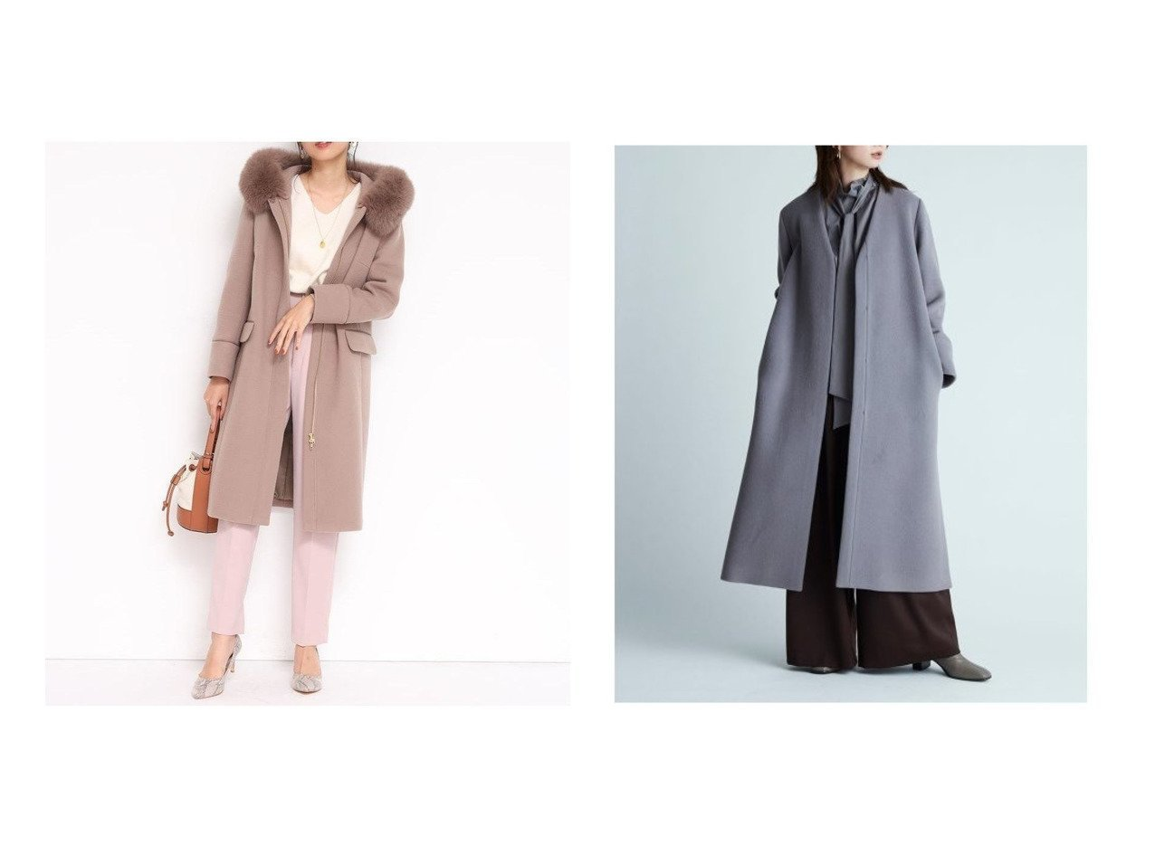 【FRAY I.D/フレイ アイディー】のMANTECOノーカラーコート&【JUSGLITTY/ジャスグリッティー】の3wayコート アウターのおすすめ!人気、レディースファッションの通販  おすすめで人気のファッション通販商品 インテリア・家具・キッズファッション・メンズファッション・レディースファッション・服の通販 founy(ファニー) https://founy.com/ ファッション Fashion レディース WOMEN アウター Coat Outerwear コート Coats ジャケット Jackets ノーカラージャケット No Collar Leather Jackets シンプル フェミニン イタリア ジャケット スマート スリット ボトム ロング |ID:crp329100000003227