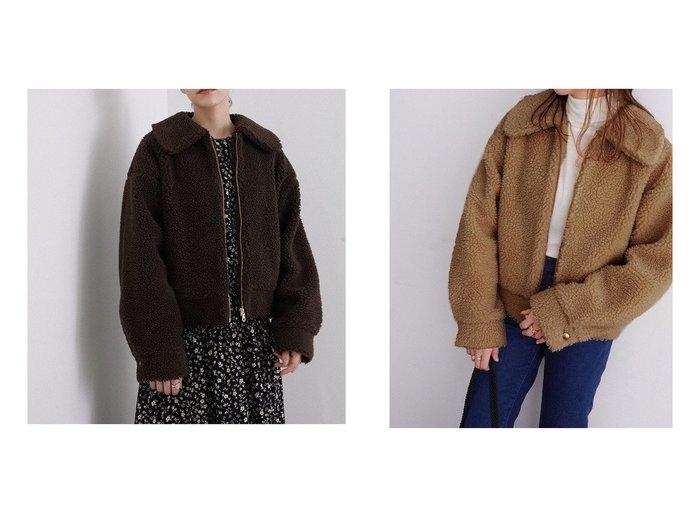 【ROPE' mademoiselle/ロペ マドモアゼル】の【新色追加】ジップアップボアショートブルゾン アウターのおすすめ!人気、レディースファッションの通販  おすすめファッション通販アイテム レディースファッション・服の通販 founy(ファニー) ファッション Fashion レディース WOMEN アウター Coat Outerwear ブルゾン Blouson Jackets インナー コンパクト ショート ジップ トレンド フェミニン ブルゾン ボトム マキシ モコモコ レース 今季 |ID:crp329100000003234