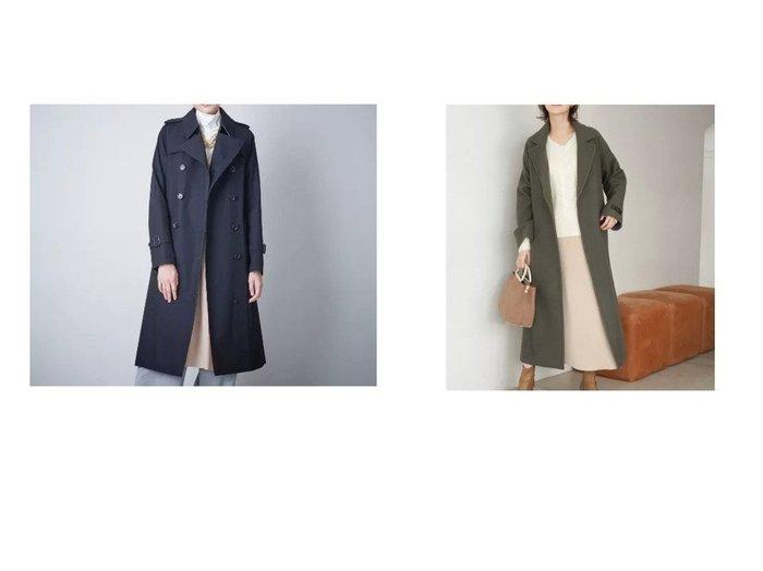 【SANYO/サンヨー】のダブルトレンチロングコート(三陽格子)&【Rope Picnic/ロペピクニック】の一重で軽い、バージンウールロングガウンコート アウターのおすすめ!人気、レディースファッションの通販  おすすめファッション通販アイテム レディースファッション・服の通販 founy(ファニー) ファッション Fashion レディース WOMEN アウター Coat Outerwear コート Coats トレンチコート Trench Coats エレガント ガウン ポケット リボン スタンダード プリーツ 無地 ライナー ロング |ID:crp329100000003239