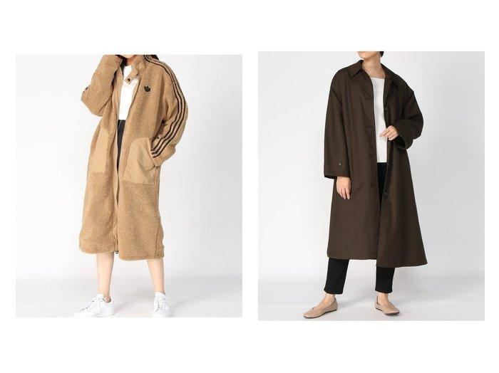 【adidas Originals/アディダス オリジナルス】のLONG SHERPA&【HARE/ハレ】のライナーステンカラーコート アウターのおすすめ!人気、レディースファッションの通販  おすすめファッション通販アイテム レディースファッション・服の通販 founy(ファニー)  ファッション Fashion レディース WOMEN アウター Coat Outerwear コート Coats ジャケット Jackets ジップ ジャケット ポケット ロング インナー キルティング スリット ライナー 春 秋 軽量 |ID:crp329100000003246