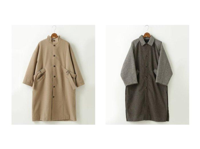 【DOUBLE NAME/ダブルネーム】のBACKデザインコート&SHJ サイドスリットチェックステンカラーコート アウターのおすすめ!人気、レディースファッションの通販  おすすめファッション通販アイテム レディースファッション・服の通販 founy(ファニー) ファッション Fashion レディース WOMEN アウター Coat Outerwear コート Coats |ID:crp329100000003267