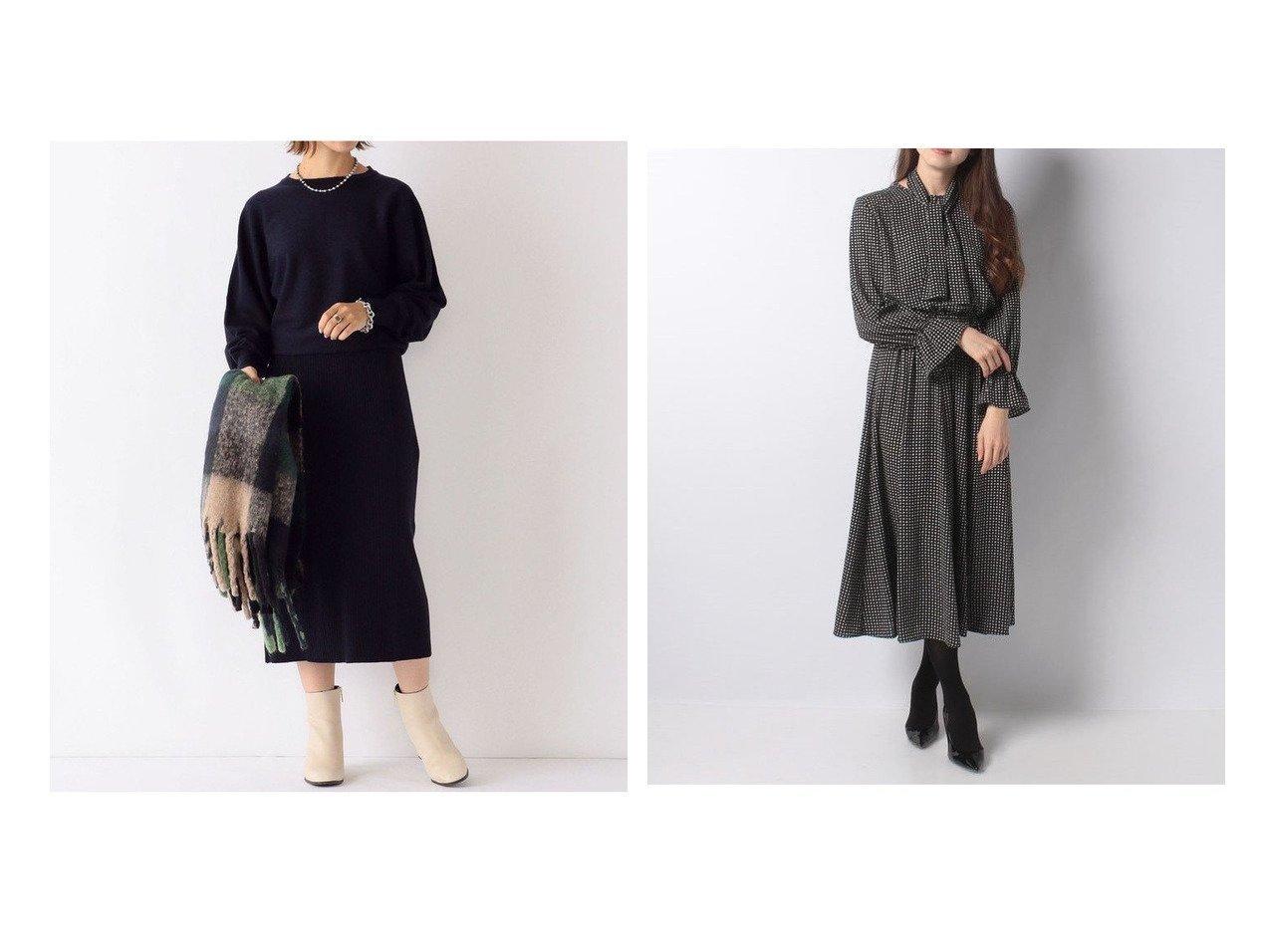 【ANAYI/アナイ】のモノトーンプリントフレアワンピース&【SHIPS any/シップス エニィ】のSHIPS any:ブラウジング ニットワンピース ワンピース・ドレスのおすすめ!人気、レディースファッションの通販  おすすめで人気のファッション通販商品 インテリア・家具・キッズファッション・メンズファッション・レディースファッション・服の通販 founy(ファニー) https://founy.com/ ファッション Fashion レディース WOMEN ワンピース Dress ニットワンピース Knit Dresses ショート スニーカー センター ブラウジング  ID:crp329100000003338