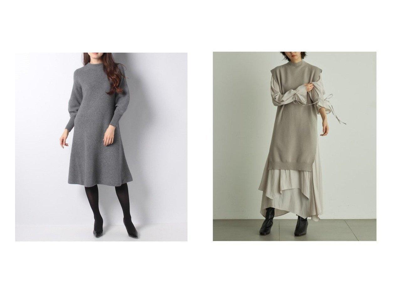 【ANAYI/アナイ】のラクーンウールカタアゼパフスリーブワンピース&【SNIDEL/スナイデル】のベストセットワンピース ワンピース・ドレスのおすすめ!人気、レディースファッションの通販  おすすめで人気のファッション通販商品 インテリア・家具・キッズファッション・メンズファッション・レディースファッション・服の通販 founy(ファニー) https://founy.com/ ファッション Fashion レディース WOMEN ワンピース Dress シェイプ バングル 今季 シフォン スタンド スマート スリット スリーブ セパレート なめらか フェミニン フレンチ ベスト ラベンダー ロング 冬 Winter  ID:crp329100000003339