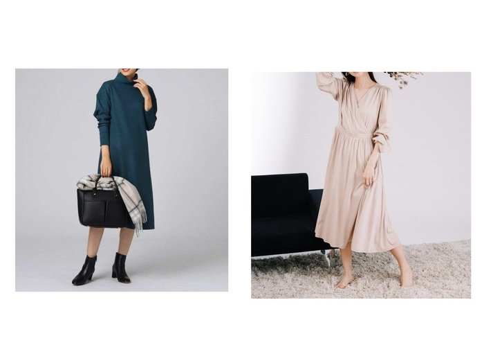 【CELFORD/セルフォード】のカットソーカシュクールワンピース&【UNTITLED/アンタイトル】のシャインミルドスムース テントラインワンピース ワンピース・ドレスのおすすめ!人気、レディースファッションの通販  おすすめファッション通販アイテム レディースファッション・服の通販 founy(ファニー) ファッション Fashion レディース WOMEN ワンピース Dress トップス Tops Tshirt カットソー Cut and Sewn ショルダー ジャージ スタンド ドロップ ワイド ウォッシャブル カットソー シルケット リラックス |ID:crp329100000003382