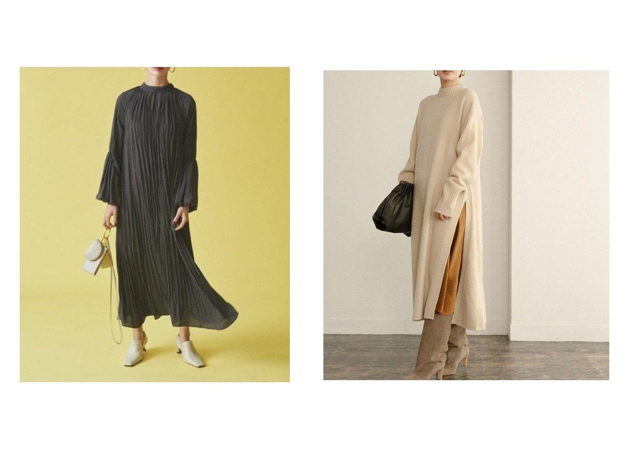【Mila Owen/ミラオーウェン】のバルーン袖ランダムギャザーワンピース&【Adam et Rope/アダム エ ロペ】のスリットニットワンピース ワンピース・ドレスのおすすめ!人気、レディースファッションの通販  おすすめで人気のファッション通販商品 インテリア・家具・キッズファッション・メンズファッション・レディースファッション・服の通販 founy(ファニー) https://founy.com/ ファッション Fashion レディース WOMEN ワンピース Dress マキシワンピース Maxi Dress ニットワンピース Knit Dresses インナー オレンジ バルーン マキシ リボン ロング ワッシャー 冬 Winter キャミワンピース スリット デニム ボトム |ID:crp329100000003384