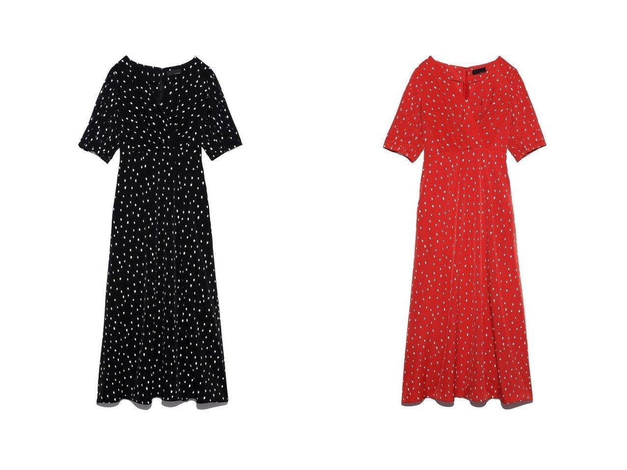 【styling/スタイリング】のドットミディワンピース ワンピース・ドレスのおすすめ!人気、レディースファッションの通販  おすすめで人気のファッション通販商品 インテリア・家具・キッズファッション・メンズファッション・レディースファッション・服の通販 founy(ファニー) https://founy.com/ ファッション Fashion レディース WOMEN ワンピース Dress アンダー サテン シフォン ジャケット ドット バランス ランダム ロング |ID:crp329100000003386