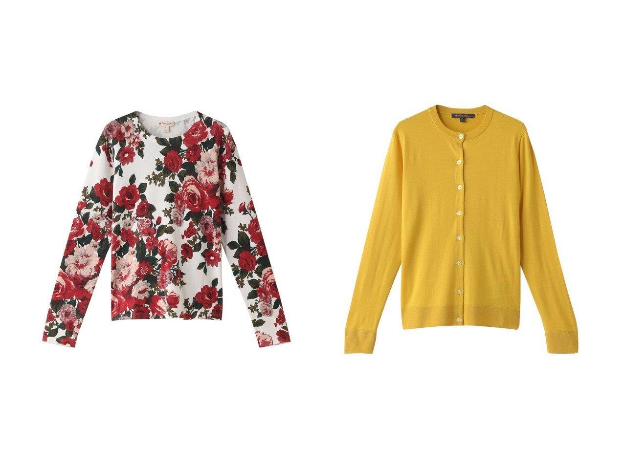 【Brooks Brothers/ブルックス ブラザーズ】の【Red Fleece】コットン フローラルプリント クルーネックセーター&メリノウール クルーネックカーディガン トップス・カットソーのおすすめ!人気、レディースファッションの通販  おすすめで人気のファッション通販商品 インテリア・家具・キッズファッション・メンズファッション・レディースファッション・服の通販 founy(ファニー) https://founy.com/ ファッション Fashion レディース WOMEN トップス Tops Tshirt ニット Knit Tops プルオーバー Pullover カーディガン Cardigans セーター フラワー カーディガン シンプル  ID:crp329100000003400