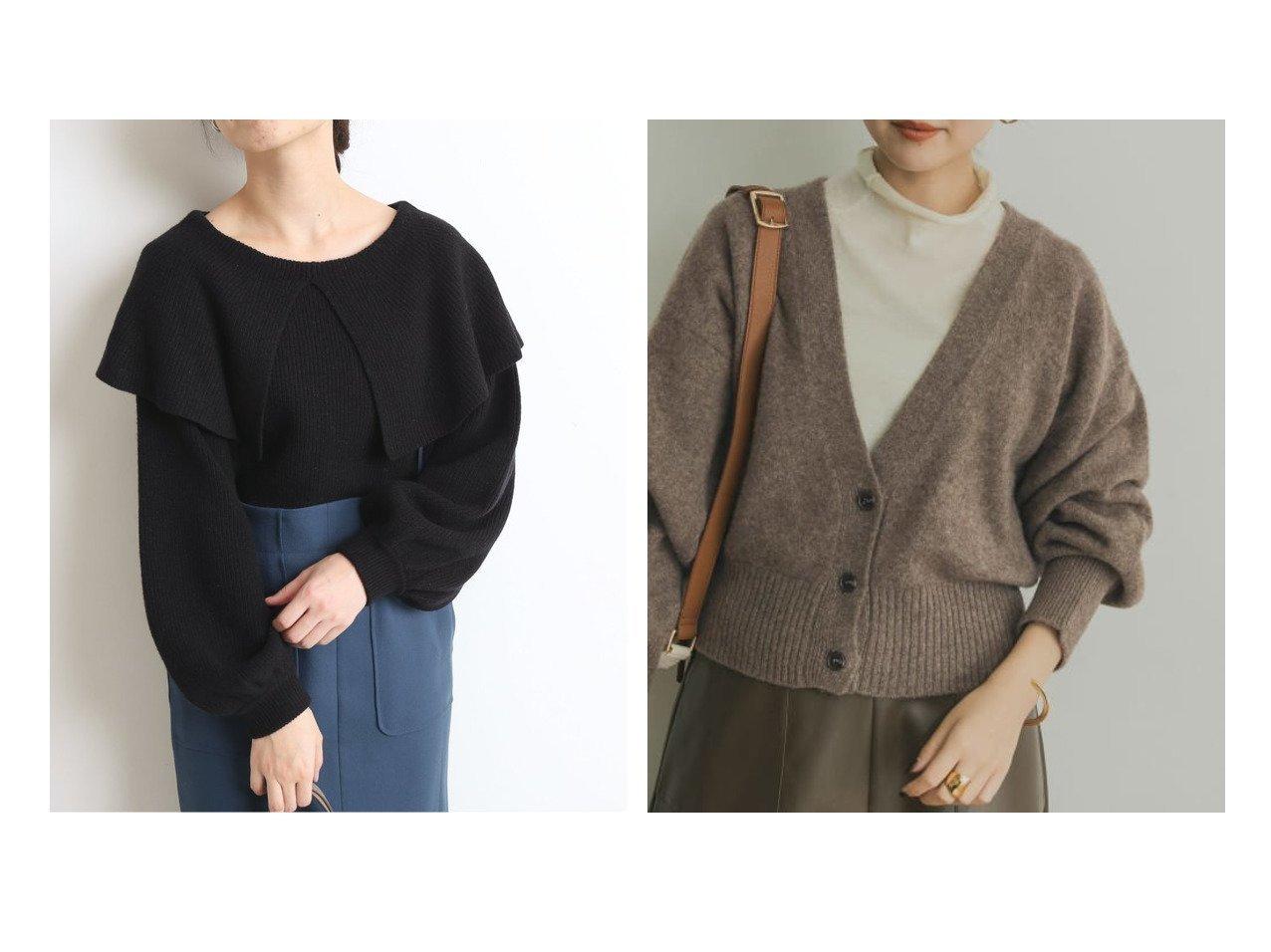【URBAN RESEARCH/アーバンリサーチ】のYAK100ショートカーディガン&【SLOBE IENA/スローブ イエナ】のビックカラーニット トップス・カットソーのおすすめ!人気、レディースファッションの通販  おすすめで人気のファッション通販商品 インテリア・家具・キッズファッション・メンズファッション・レディースファッション・服の通販 founy(ファニー) https://founy.com/ ファッション Fashion レディース WOMEN トップス Tops Tshirt ニット Knit Tops カーディガン Cardigans 秋冬 A/W Autumn/ Winter コンパクト セーター フェミニン ボトム インナー エアリー カットソー カーディガン ショート シンプル スタンダード ハイネック ベーシック ポケット リブニット  ID:crp329100000003453