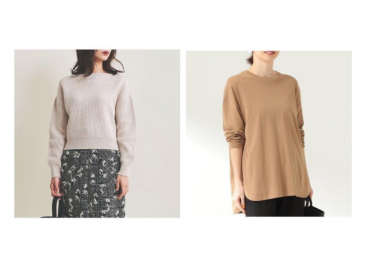 【The Virgnia/ザ ヴァージニア】の両畦ボリュームスリーブニット&【Demi-Luxe BEAMS/デミルクス ビームス】のDemi- スムース ロングスリーブ Tシャツ トップス・カットソーのおすすめ!人気、レディースファッションの通販 おすすめで人気のファッション通販商品 インテリア・家具・キッズファッション・メンズファッション・レディースファッション・服の通販 founy(ファニー) https://founy.com/ ファッション Fashion レディース WOMEN トップス Tops Tshirt ニット Knit Tops ボリュームスリーブ / フリル袖 Volume Sleeve シャツ/ブラウス Shirts Blouses カットソー Cut and Sewn シンプル セーター バランス リュクス 畦 ショルダー スリーブ ドロップ リラックス ロング 人気  ID:crp329100000003481