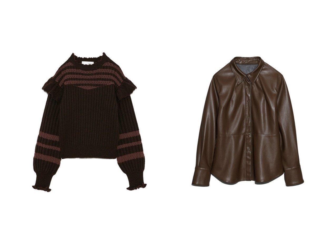 【Lily Brown/リリーブラウン】のドットボタンデザインシャツ&透かし編みニットトップス トップスのおすすめ!人気、レディースファッションの通販  おすすめで人気のファッション通販商品 インテリア・家具・キッズファッション・メンズファッション・レディースファッション・服の通販 founy(ファニー) https://founy.com/ ファッション Fashion レディース WOMEN トップス Tops Tshirt ニット Knit Tops シャツ/ブラウス Shirts Blouses アクリル スマート 透かし フリル ボーダー ミックス メランジ 冬 Winter カフス 今季 シンプル セットアップ ドット 秋冬 A/W Autumn/ Winter |ID:crp329100000003578