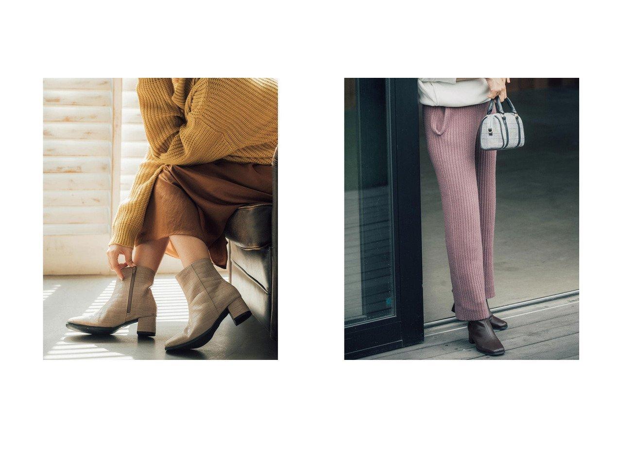 【KOBE LETTUCE/コウベレタス】の[近藤千尋]リブニットワイドパンツ [M2610]&【近藤千尋コラボ】スクエアトゥブーツ [I1938] おすすめ!人気、レディースファッションの通販  おすすめで人気のファッション通販商品 インテリア・家具・キッズファッション・メンズファッション・レディースファッション・服の通販 founy(ファニー) https://founy.com/ ファッションモデル・俳優・女優 Models 女性 Women 近藤千尋 Kondo Chihiro ファッション Fashion レディース WOMEN パンツ Pants 秋 クッション クロコ コラボ サイドジップ シューズ ショート シンプル トレンド ブーティ ミドル 冬 Winter 秋冬 A/W Autumn/ Winter |ID:crp329100000003600