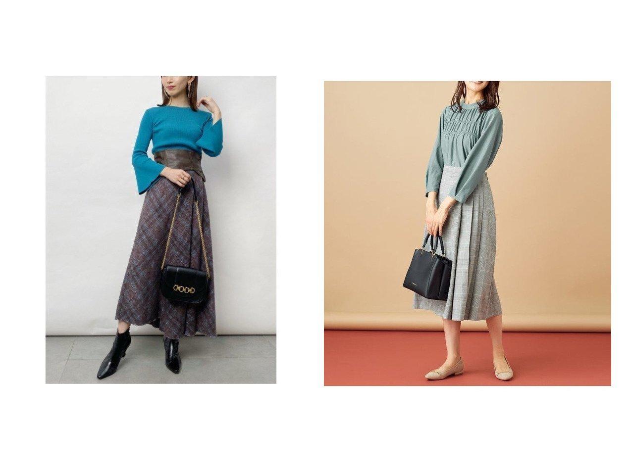 【SNIDEL/スナイデル】のアシメントリーデザインスカート&【any SiS/エニィ スィス】のフィブリルサテン ブラウス おすすめ!人気、レディースファッションの通販  おすすめで人気のファッション通販商品 インテリア・家具・キッズファッション・メンズファッション・レディースファッション・服の通販 founy(ファニー) https://founy.com/ ファッションモデル・俳優・女優 Models 女性 Women 田中みな実 Tanaka Minami ファッション Fashion レディース WOMEN スカート Skirt Aライン/フレアスカート Flared A-Line Skirts トップス Tops Tshirt シャツ/ブラウス Shirts Blouses アシンメトリー エレガント オレンジ ギャザー スマート チェック バランス フレア 秋冬 A/W Autumn/ Winter インナー 秋 |ID:crp329100000003617