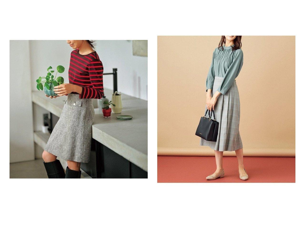 【any SiS/エニィ スィス】のフィブリルサテン ブラウス&【KUMIKYOKU/組曲】の【東原亜希さん着用・KMKK】 へリンボーン ツイード スカート(番号KJ25) おすすめ!人気、レディースファッションの通販  おすすめで人気のファッション通販商品 インテリア・家具・キッズファッション・メンズファッション・レディースファッション・服の通販 founy(ファニー) https://founy.com/ ファッションモデル・俳優・女優 Models 女性 Women 東原亜希 Higashihara Aki 田中みな実 Tanaka Minami ファッション Fashion レディース WOMEN スカート Skirt トップス Tops Tshirt シャツ/ブラウス Shirts Blouses 秋 コンパクト ストレッチ ツイード 台形 フラップ ベーシック ポケット ミニスカート モノトーン リラックス ループ 秋冬 A/W Autumn/ Winter インナー ギャザー 長袖 バランス |ID:crp329100000003651