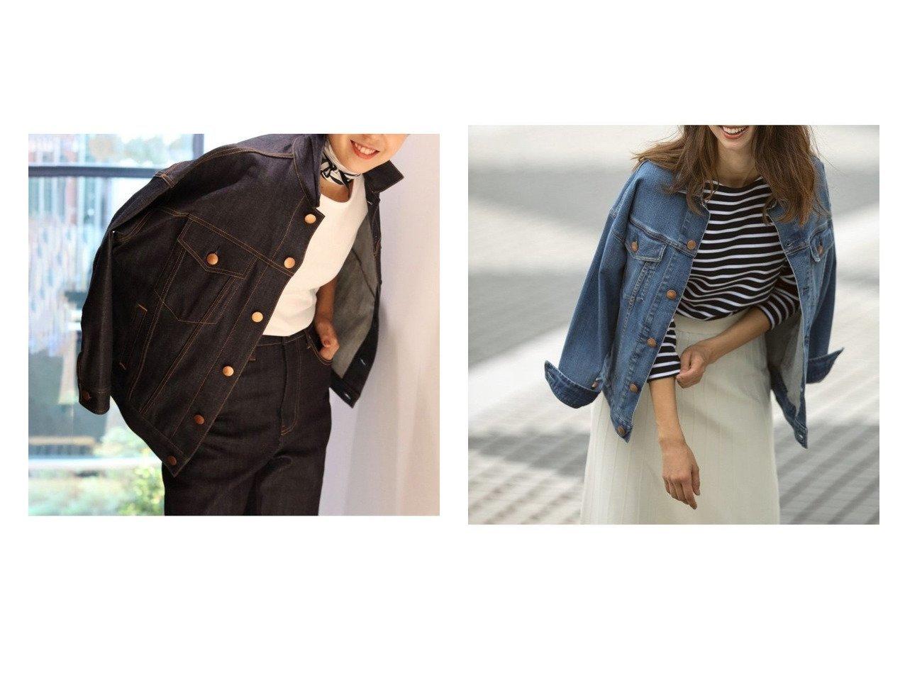 【NIJYUSANKU/23区】の【中村アンさん着用】23区DENIMオーバーサイズジャケット(番号E35) おすすめ!人気、レディースファッションの通販  おすすめで人気のファッション通販商品 インテリア・家具・キッズファッション・メンズファッション・レディースファッション・服の通販 founy(ファニー) https://founy.com/ ファッションモデル・俳優・女優 Models 女性 Women 中村アン Nakamura Anne ファッション Fashion レディース WOMEN アウター Coat Outerwear コート Coats ジャケット Jackets デニムジャケット Denim Jackets エレガント ジャケット ジーンズ ストレッチ デニム |ID:crp329100000003667