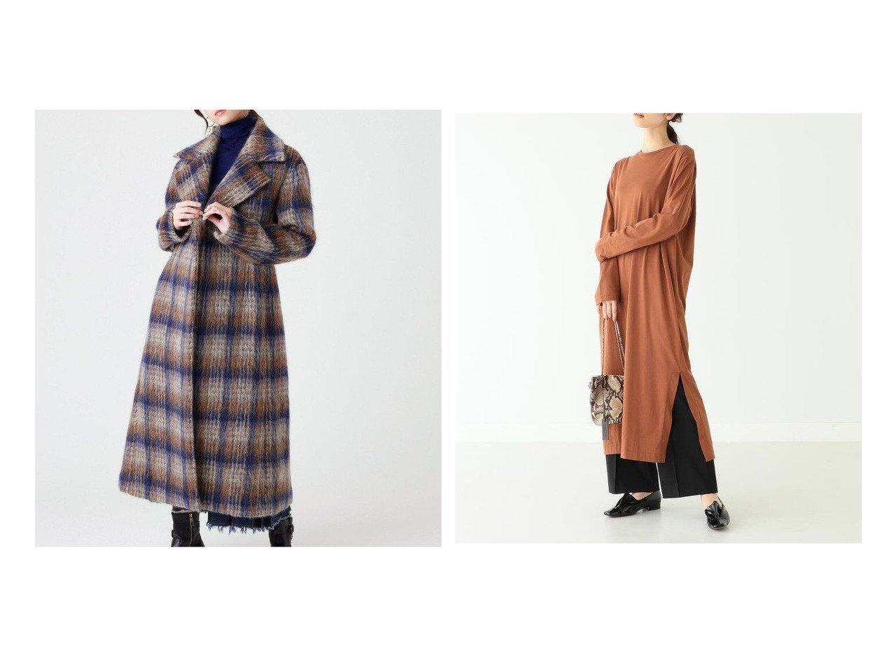 【Demi-Luxe BEAMS/デミルクス ビームス】のスビン ロングスリーブドレス&【EPOCA/エポカ】の【Marisol12月号掲載】チェックシャギーコート ファッション雑誌・Webマガジン掲載!おすすめ人気、レディースファッション通販 おすすめで人気のファッション通販商品 インテリア・家具・キッズファッション・メンズファッション・レディースファッション・服の通販 founy(ファニー) https://founy.com/ 雑誌掲載アイテム Magazine items ファッション雑誌 Fashion magazines マリソル Marisol オッジ Oggi ファッション Fashion レディース WOMEN アウター Coat Outerwear コート Coats ワンピース Dress ドレス Party Dresses イタリア 雑誌 アクセサリー スタンダード ストレート スリット バランス リアル ロング |ID:crp329100000003700
