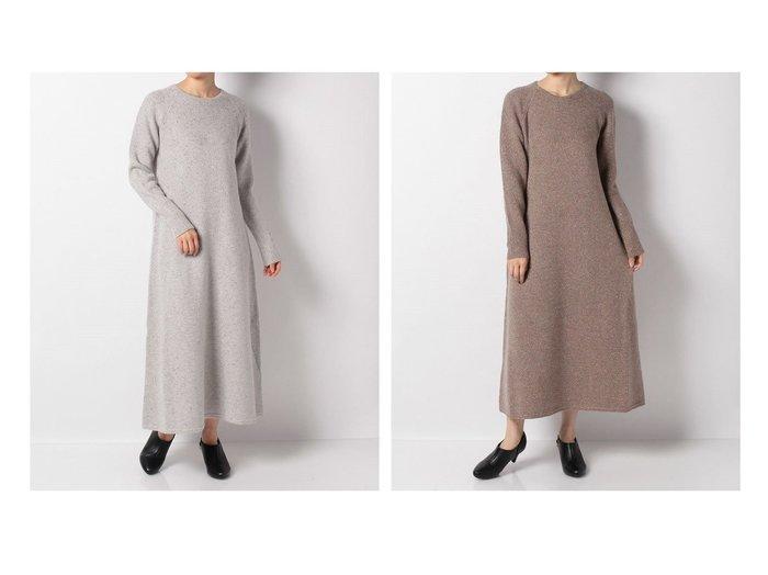 【en recre/アン レクレ】のラメニットワンピ-ス 別注・限定・コラボなど、おすすめで人気!ファッション通販  おすすめファッション通販アイテム レディースファッション・服の通販 founy(ファニー) ファッション Fashion レディース WOMEN ワンピース Dress ニットワンピース Knit Dresses カシミヤ マキシ リラックス 別注 |ID:crp329100000003717