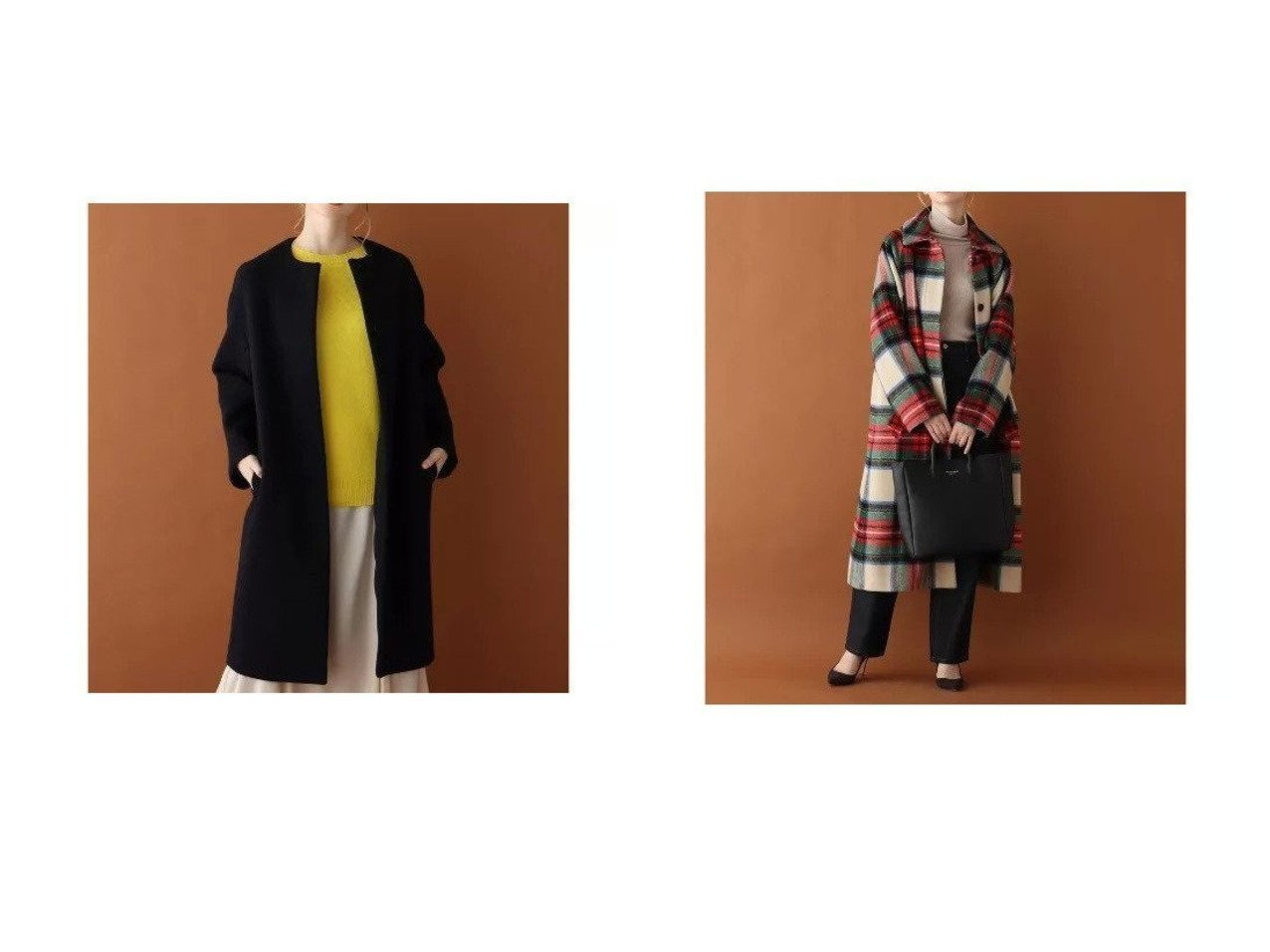 【DRESSTERIOR/ドレステリア】の【CLASSY.12月号掲載】ノーカラーコート&【FUDGE12月号掲載】ブランケットタータンテントラインコート 別注・限定・コラボなど、おすすめで人気!ファッション通販  おすすめで人気のファッション通販商品 インテリア・家具・キッズファッション・メンズファッション・レディースファッション・服の通販 founy(ファニー) https://founy.com/ 雑誌掲載アイテム Magazine items ファッション雑誌 Fashion magazines クラッシィ CLASSY. ファッジ FUDGE ファッション Fashion レディース WOMEN アウター Coat Outerwear コート Coats なめらか エレガント バランス ベーシック ボトム ポケット マキシ メルトン 別注 雑誌  ID:crp329100000003732