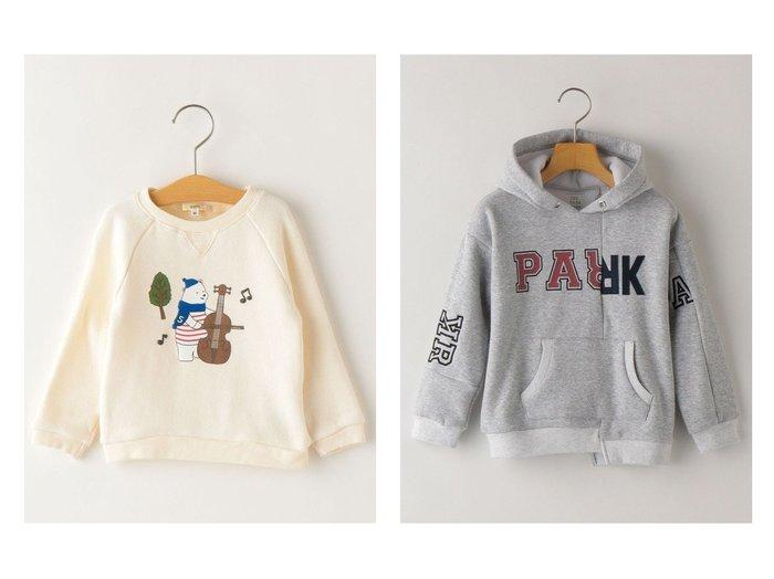 【SHIPS / KIDS/シップス】のTHE PARK SHOP:MIX COLLEGE PARKA(95~135cm)&SHIPS KIDS:ミュージック シロクマ スウェット(80~90cm) 【KIDS】子供服のおすすめ!人気、キッズファッションの通販 おすすめファッション通販アイテム レディースファッション・服の通販 founy(ファニー) ファッション Fashion キッズ KIDS トップス Tops Tees Kids カットソー スウェット プリント マフラー 冬 Winter ヴィンテージ スポーツ ドッキング なめらか パターン パーカー フェルト 防寒 |ID:crp329100000003775