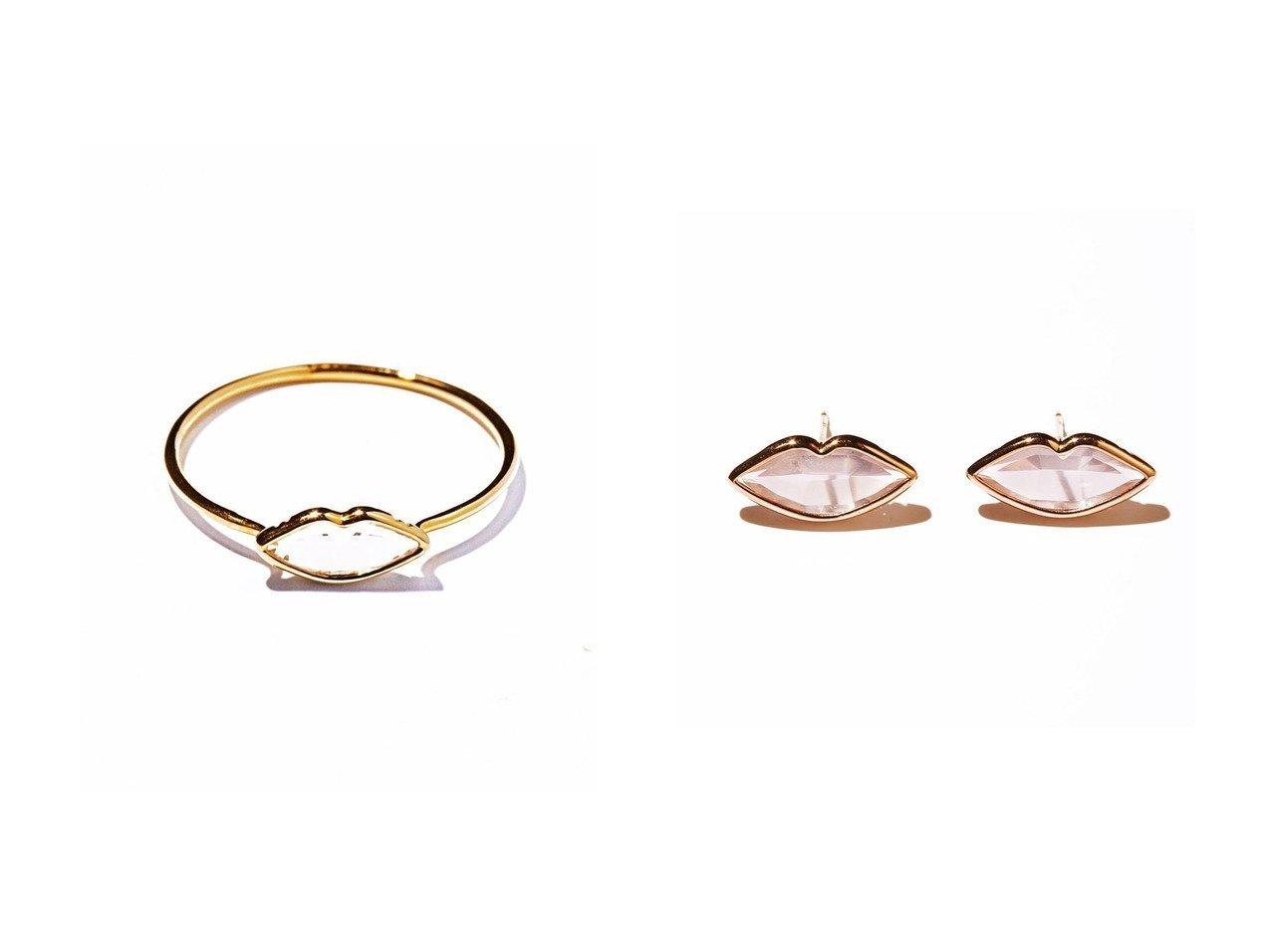 【les bonbon/ルボンボン】のpetite lip イエローゴールドリング&lip ピンクゴールドピアス アクセサリー・ジュエリーのおすすめ!人気、レディースファッションの通販  おすすめで人気のファッション通販商品 インテリア・家具・キッズファッション・メンズファッション・レディースファッション・服の通販 founy(ファニー) https://founy.com/ ファッション Fashion レディース WOMEN イエロー コレクション フェミニン モチーフ フォルム リップ |ID:crp329100000003794