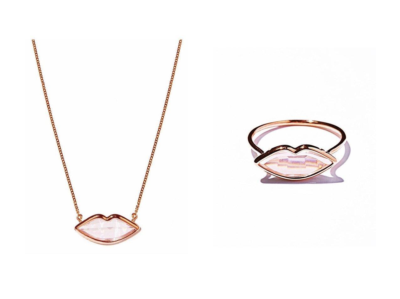 【les bonbon/ルボンボン】のlip ピンクゴールドネックレス&lip ピンクゴールドリング アクセサリー・ジュエリーのおすすめ!人気、レディースファッションの通販  おすすめで人気のファッション通販商品 インテリア・家具・キッズファッション・メンズファッション・レディースファッション・服の通販 founy(ファニー) https://founy.com/ ファッション Fashion レディース WOMEN ジュエリー Jewelry ネックレス Necklaces コレクション ネックレス フェミニン フォルム モチーフ リップ |ID:crp329100000003797