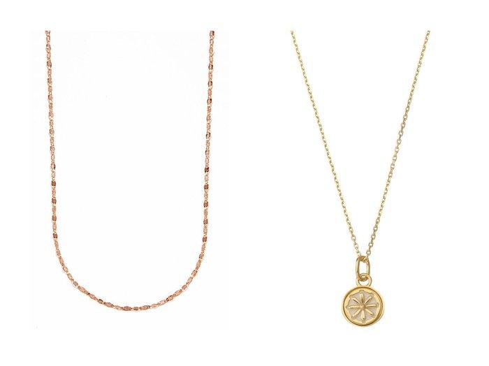 【MARIA BLACK/マリア ブラック】のJourney coin ネックレス&【les bonbon/ルボンボン】のeclair ピンクゴールドネックレス アクセサリー・ジュエリーのおすすめ!人気、レディースファッションの通販  おすすめファッション通販アイテム レディースファッション・服の通販 founy(ファニー) ファッション Fashion レディース WOMEN ジュエリー Jewelry ネックレス Necklaces シンプル チェーン ドレス ネックレス フェミニン ベーシック |ID:crp329100000003799