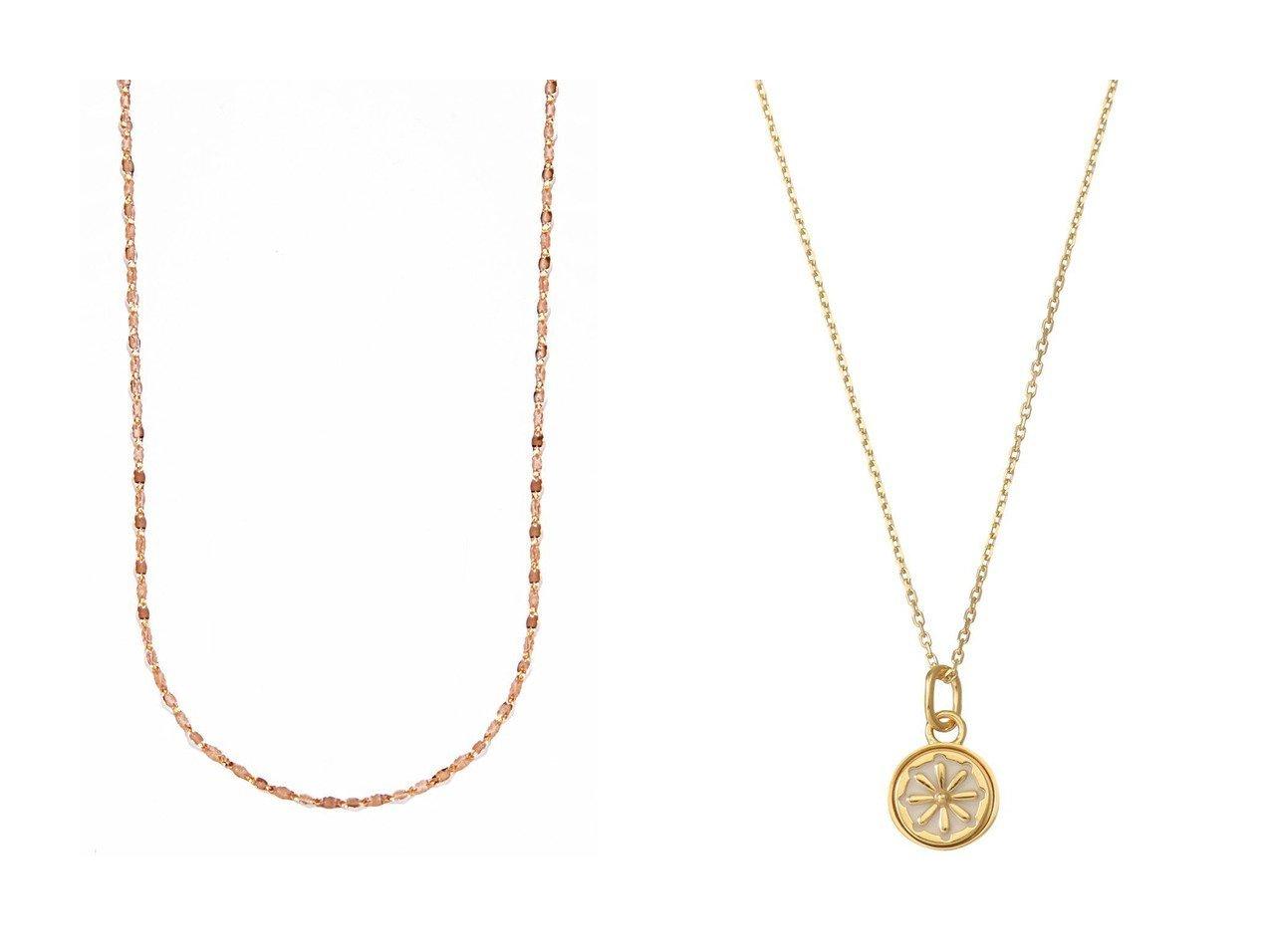 【MARIA BLACK/マリア ブラック】のJourney coin ネックレス&【les bonbon/ルボンボン】のeclair ピンクゴールドネックレス アクセサリー・ジュエリーのおすすめ!人気、レディースファッションの通販  おすすめで人気のファッション通販商品 インテリア・家具・キッズファッション・メンズファッション・レディースファッション・服の通販 founy(ファニー) https://founy.com/ ファッション Fashion レディース WOMEN ジュエリー Jewelry ネックレス Necklaces シンプル チェーン ドレス ネックレス フェミニン ベーシック |ID:crp329100000003799
