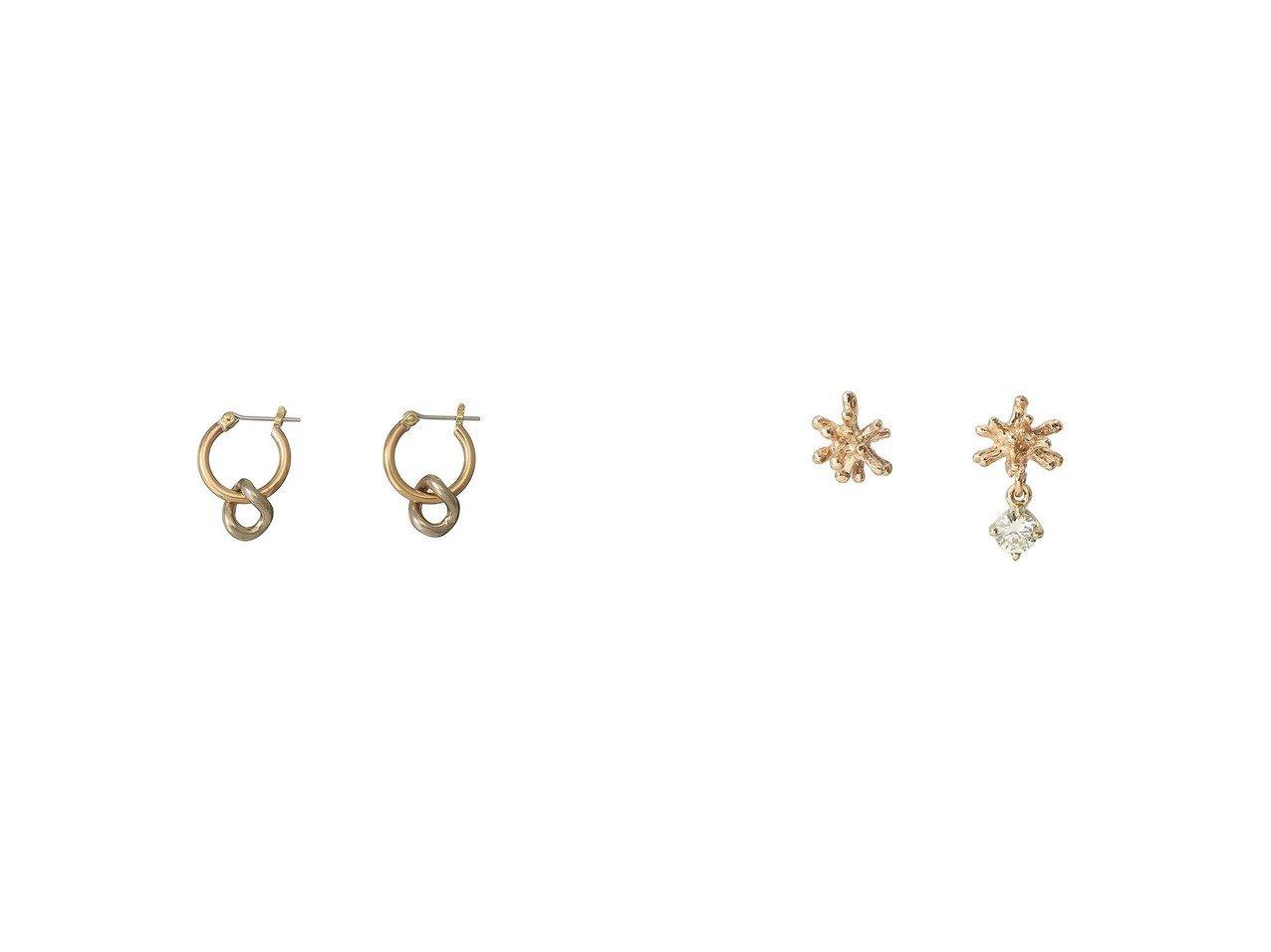 【MAISON SPECIAL/メゾンスペシャル】の【LAURA LOMBARDI】 MINI ONDA CHARM ピアス&【KAORU/カオル】のSTARDUST K10 ゴールド ダイヤモンド ピアス アクセサリー・ジュエリーのおすすめ!人気、レディースファッションの通販 おすすめで人気のファッション通販商品 インテリア・家具・キッズファッション・メンズファッション・レディースファッション・服の通販 founy(ファニー) https://founy.com/ ファッション Fashion レディース WOMEN サークル シルバー モダン イヤーカフ エレガント コレクション スペシャル ダイヤモンド 片耳 |ID:crp329100000003815