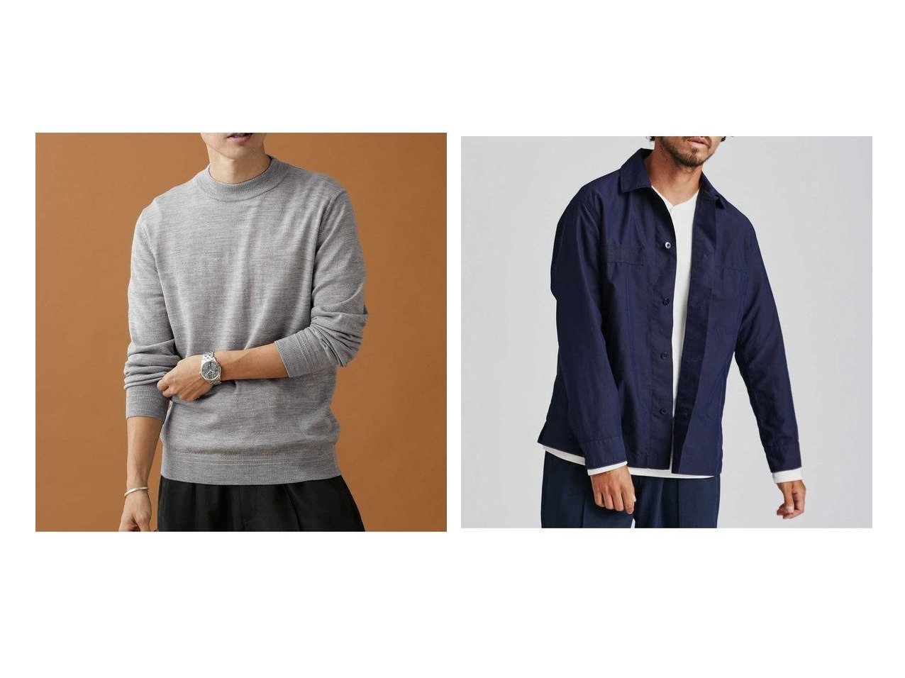 【nano universe / MEN/ナノ ユニバース】の毛玉レスニット 12Gモックネック&NVy by nano universe CPOシャツ 【MEN】男性のおすすめ!人気、メンズファッションの通販 おすすめで人気のファッション通販商品 インテリア・家具・キッズファッション・メンズファッション・レディースファッション・服の通販 founy(ファニー) https://founy.com/ ファッション Fashion メンズ MEN トップス Tops Tshirt Men ニット Knit Tops シャツ Shirts ストレッチ セーター トレンド ベーシック モックネック 秋冬 A/W Autumn/ Winter ヴィンテージ コレクション シンプル センター フロント ミリタリー モダン ワーク |ID:crp329100000003881
