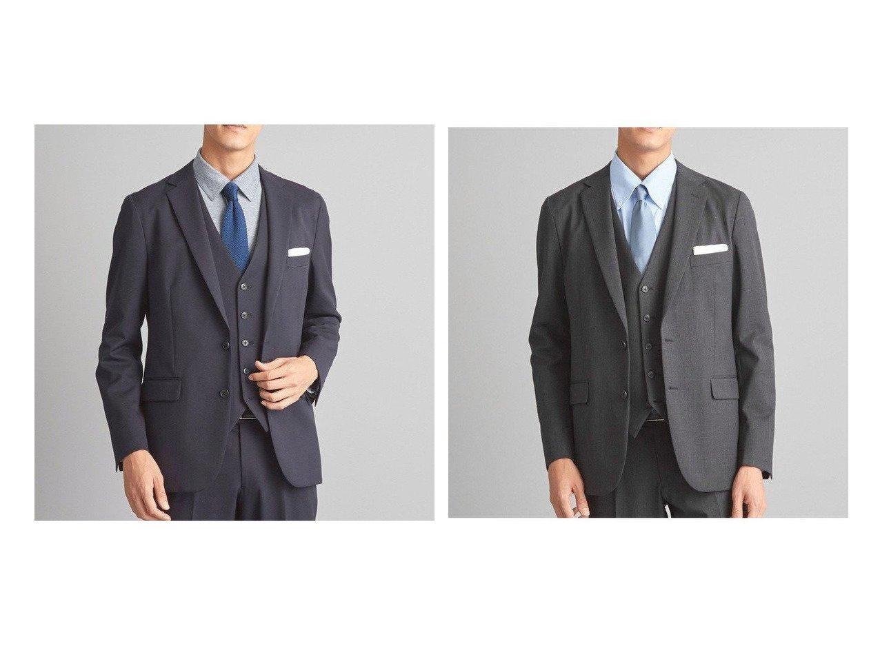 【green label relaxing / UNITED ARROWS / MEN/グリーンレーベルリラクシング メン】の【WORK TRIP OUTFITS】PU サージ NT ジャケット 【MEN】男性のおすすめ!人気、メンズファッションの通販 おすすめで人気のファッション通販商品 インテリア・家具・キッズファッション・メンズファッション・レディースファッション・服の通販 founy(ファニー) https://founy.com/ ファッション Fashion メンズ MEN ウォッシャブル オケージョン 春 秋 シャーリング ジャケット ストレッチ スマート スリム スーツ セットアップ トレンド フィット フォーマル フラップ ベスト ポケット 無地  ID:crp329100000003897