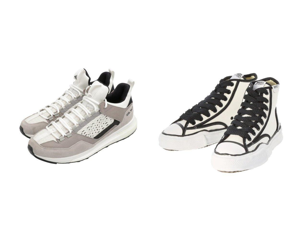 【adidas Sports Performance / MEN/アディダス スポーツ パフォーマンス】のファイブテン ファイブテニー DLX アプローチ [Five Ten Five Tennie DLX Approach] アディダス&【around the shoes / MEN/アラウンドザシューズ】のメゾンミハラヤスヒロ/MaisonMIHARAYASUHIROハイカットスニーカー 【MEN】男性のおすすめ!人気、メンズファッションの通販 おすすめファッション通販アイテム インテリア・キッズ・メンズ・レディースファッション・服の通販 founy(ファニー) ファッション Fashion メンズ MEN シューズ・靴 Shoes Men スニーカー Sneakers クッション シューズ スニーカー スポーツ スリッポン フィット ミックス メッシュ ランニング レギュラー 軽量 コレクション 定番 パイピング ワーク 秋冬 A/W Autumn/ Winter ブラック系 Black ホワイト系 White |ID:crp329100000003913