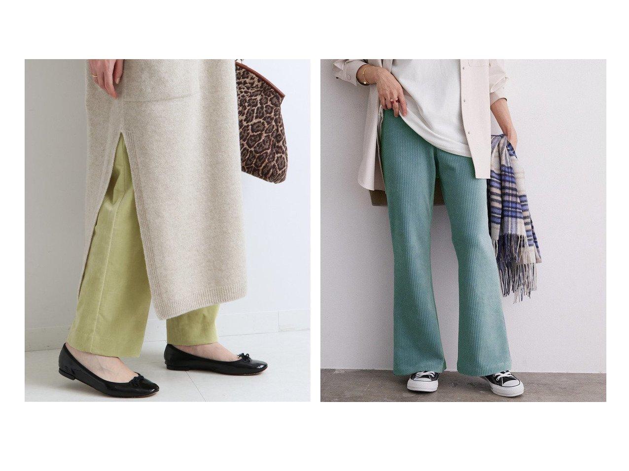 【ROPE' mademoiselle/ロペ マドモアゼル】のコーデュロイジャージーパンツ&【IENA/イエナ】の別珍ストレッチ パンツ パンツのおすすめ!人気、レディースファッションの通販  おすすめで人気のファッション通販商品 インテリア・家具・キッズファッション・メンズファッション・レディースファッション・服の通販 founy(ファニー) https://founy.com/ ファッション Fashion レディース WOMEN パンツ Pants 秋冬 A/W Autumn/ Winter ストレッチ スリム ボトム 冬 Winter 別注 コーデュロイ シェイプ ショート スニーカー フィット リラックス レギンス |ID:crp329100000003981