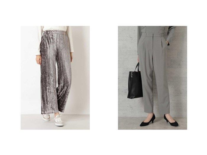 【NATURAL BEAUTY BASIC/ナチュラル ビューティー ベーシック】のベロアプリーツパンツ&[洗える]ペプラムセットアップ パンツ パンツのおすすめ!人気、レディースファッションの通販  おすすめファッション通販アイテム レディースファッション・服の通販 founy(ファニー) ファッション Fashion レディース WOMEN パンツ Pants セットアップ Setup パンツ Pants パーカー プリーツ ベロア セットアップ ペプラム |ID:crp329100000004011
