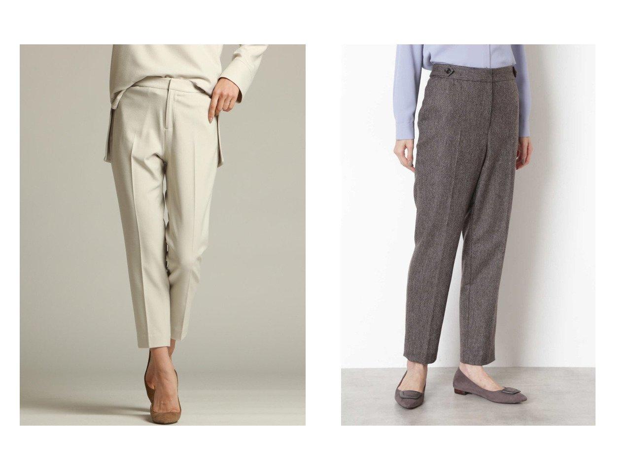 【NATURAL BEAUTY BASIC/ナチュラル ビューティー ベーシック】のヘリンボンツイードパンツ&【la.f.../ラ エフ】の《SET UPアイテム》ジョーゼット後ろウエストゴムテーパードパンツ パンツのおすすめ!人気、レディースファッションの通販  おすすめで人気のファッション通販商品 インテリア・家具・キッズファッション・メンズファッション・レディースファッション・服の通販 founy(ファニー) https://founy.com/ ファッション Fashion レディース WOMEN パンツ Pants ジョーゼット ジーンズ ストレッチ セットアップ フィット センター ヘリンボーン |ID:crp329100000004017