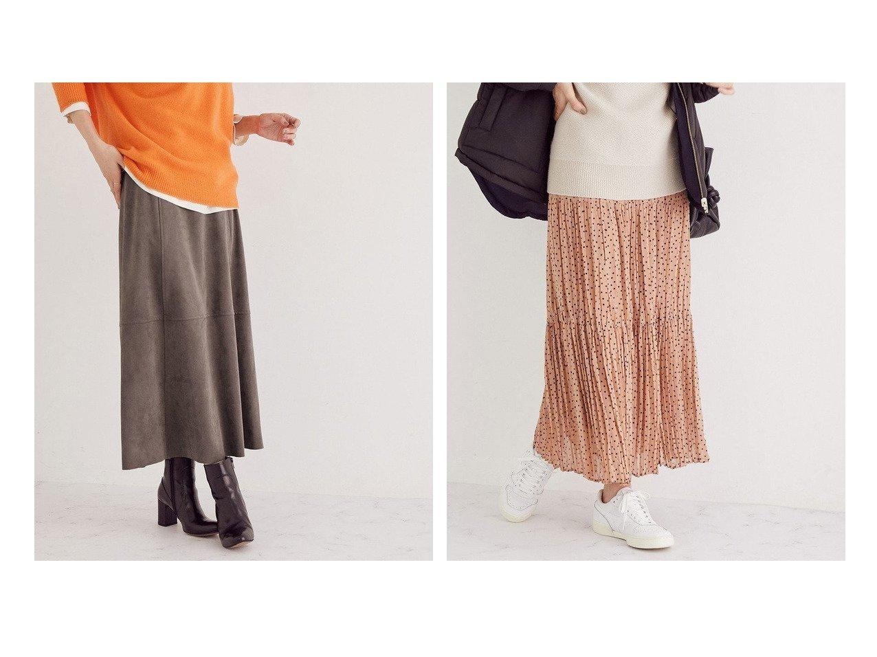 【ROPE/ロペ】のティアード楊柳プリーツスカート&フェイクスエードセミフレアスカート スカートのおすすめ!人気、レディースファッションの通販  おすすめで人気のファッション通販商品 インテリア・家具・キッズファッション・メンズファッション・レディースファッション・服の通販 founy(ファニー) https://founy.com/ ファッション Fashion レディース WOMEN スカート Skirt Aライン/フレアスカート Flared A-Line Skirts プリーツスカート Pleated Skirts オレンジ ジャージ スエード ビビッド フォルム ベーシック ホールガーメント ワーク 冬 Winter ティアード ドット パーカー ビッグ フレア プリント プリーツ ロング 無地  ID:crp329100000004026