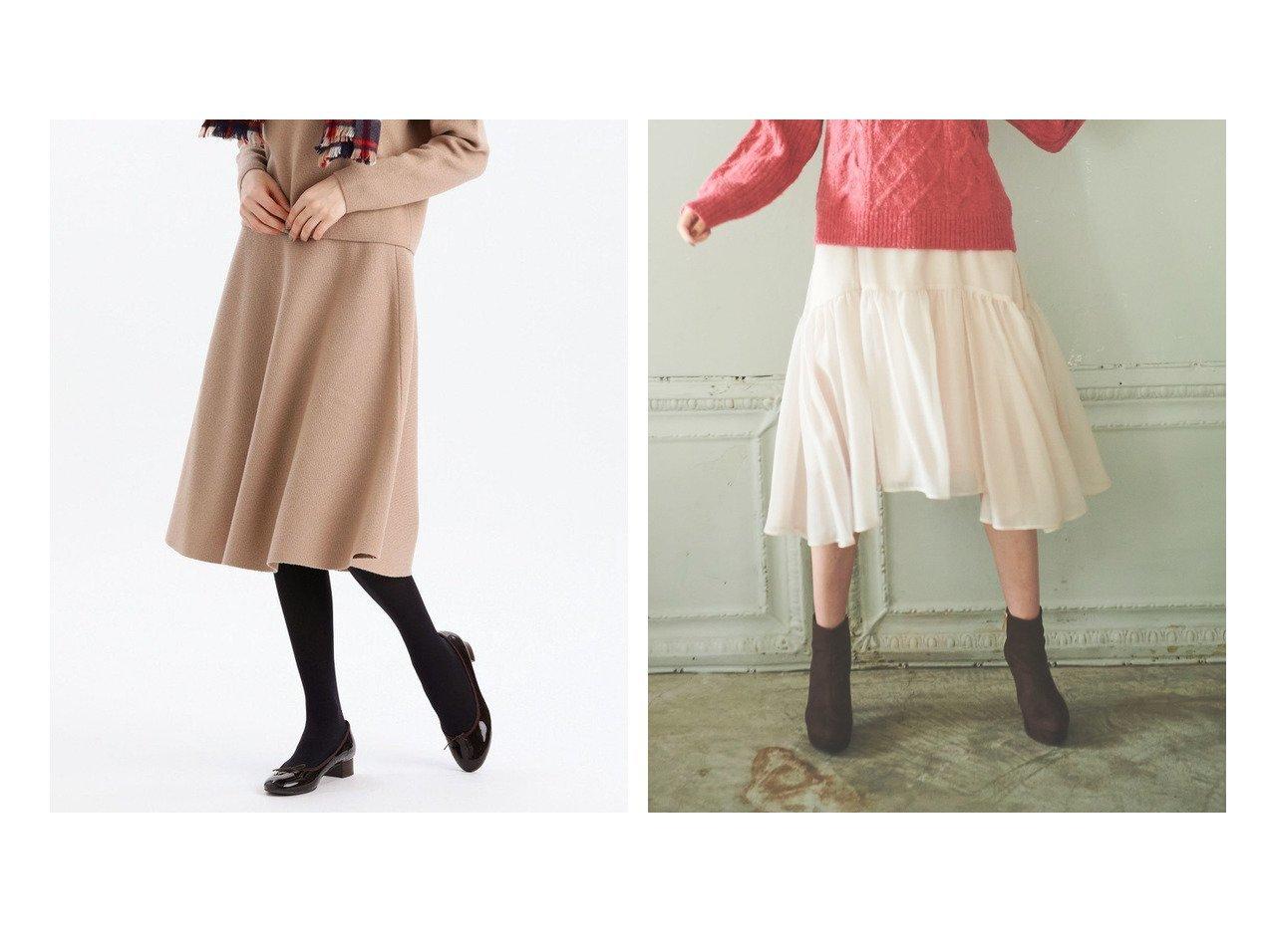 【MACKINTOSH PHILOSOPHY/マッキントッシュ フィロソフィー】のフレアニットスカート&【31 Sons de mode/トランテアン ソン ドゥ モード】のエアリーフレアスカート スカートのおすすめ!人気、レディースファッションの通販  おすすめで人気のファッション通販商品 インテリア・家具・キッズファッション・メンズファッション・レディースファッション・服の通販 founy(ファニー) https://founy.com/ ファッション Fashion レディース WOMEN スカート Skirt Aライン/フレアスカート Flared A-Line Skirts フレア イエロー イレギュラーヘム ギャザー シフォン シンプル スニーカー トレーナー パーカー フェミニン フレアースカート ライダース ラベンダー 冬 Winter  ID:crp329100000004027