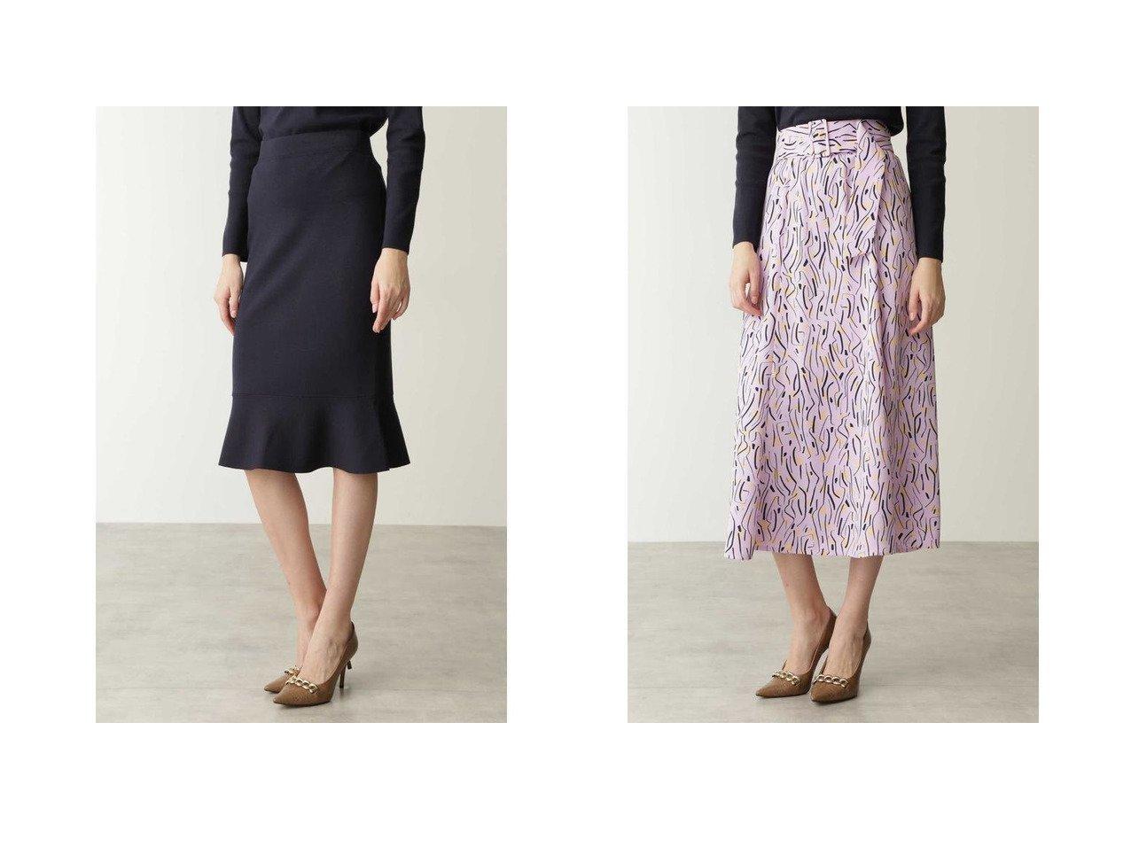 【Pinky&Dianne/ピンキーアンドダイアン】のフローウイーモチーフプリントサーキュラースカート&ペプラムニットスカート スカートのおすすめ!人気、レディースファッションの通販  おすすめで人気のファッション通販商品 インテリア・家具・キッズファッション・メンズファッション・レディースファッション・服の通販 founy(ファニー) https://founy.com/ ファッション Fashion レディース WOMEN スカート Skirt エレガント ペプラム クラシカル フレア プリント モダン ラベンダー ランダム  ID:crp329100000004028