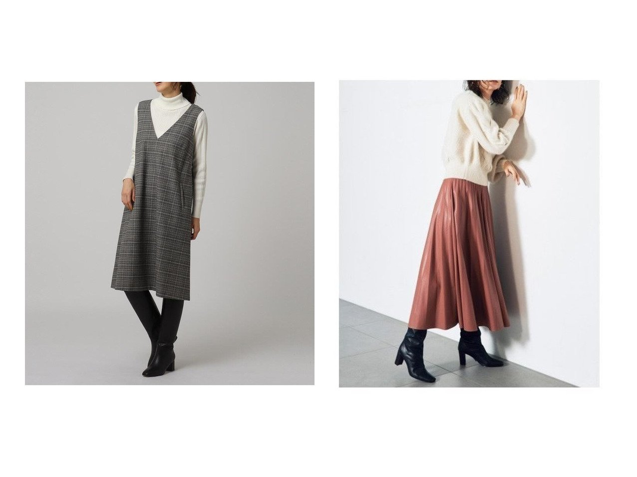【UNTITLED/アンタイトル】のブラッシュグレンジャンスカ&【SNIDEL/スナイデル】のレザープリーツスカート スカートのおすすめ!人気、レディースファッションの通販  おすすめで人気のファッション通販商品 インテリア・家具・キッズファッション・メンズファッション・レディースファッション・服の通販 founy(ファニー) https://founy.com/ ファッション Fashion レディース WOMEN スカート Skirt プリーツスカート Pleated Skirts インナー クラシカル ショート チェック ハイネック ポケット シアー シフォン スマート トレンド フェイクレザー フェミニン フレア プリーツ ベーシック ロング  ID:crp329100000004029