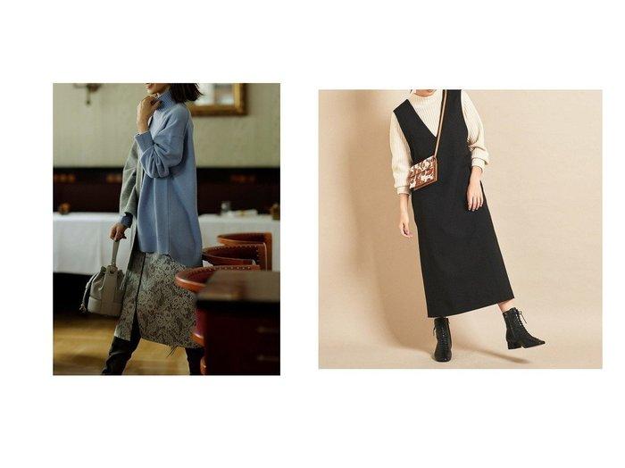 【BEAUTY&YOUTH UNITED ARROWS/ビューティアンド ユースユナイテッドアローズ】のBY∴ Vネックジャンパースカート&【JUSGLITTY/ジャスグリッティー】のレースボンディングタイトスカート スカートのおすすめ!人気、レディースファッションの通販  おすすめファッション通販アイテム レディースファッション・服の通販 founy(ファニー) ファッション Fashion レディース WOMEN スカート Skirt タイトスカート パイピング パーティ フロント ボンディング レース インナー シンプル スニーカー スマート トレンド 定番 バランス ポケット  ID:crp329100000004033